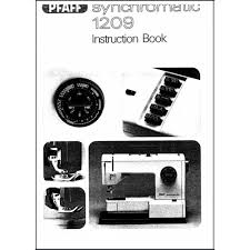 instruction manual pfaff synchromatic 1209 sewing parts online
