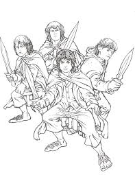 lord of the rings coloring pages more from this site sinbad