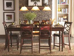 aspenhome cambridge 7pc counter height leg dining table set in
