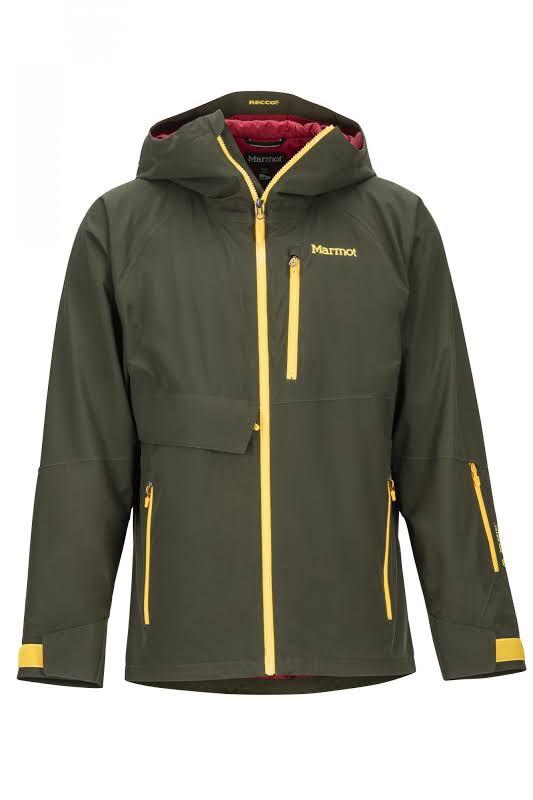 Marmot Castle Peak Jacket Rosin Green/Golden Leaf Large 74290-4988-L