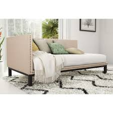 Linen Daybed Dhp Mid Century Modern Tan Upholstered Daybed By Avenue Greene
