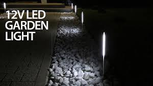 Outdoor Mushroom Lights by Cheap Led Garden Light That Doesn U0027t 12v Diy Youtube