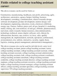 Sample Teacher Assistant Resume by Top 8 College Teaching Assistant Resume Samples