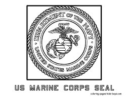 us marine corp flag coloring book page free marine corp