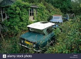 citroen cars france citroen cars wrecks abandoned house in green bush stock