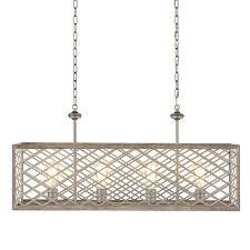 Free Shipping Home Decorators Code Home Decorators Collection 4 Light Gilded Pewter Linear Chandelier