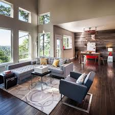 Home Design Eugene Oregon Open Plan Dining Living Modern Home In Eugene Oregon By Jordan