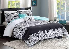 Bed Comforter Sets For Teenage Girls by Black White Turquoise Teal Blue Comforter Set Elegant Scroll Teen