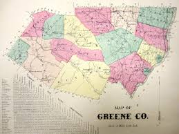 Ny County Map Map Greene County
