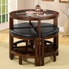 Patio Furniture Counter Height Table Sets - amazon com crystal cove dark walnut wood 5 pieces glass top