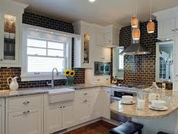 glass subway tiles kitchen grey soft leather sofa dark countertops great examples for choosing subway tiles kitchen gallery