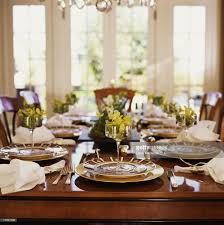elegant dinner party table setting stock photo getty images