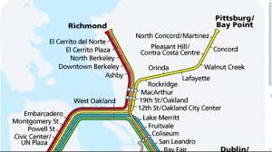 San Francisco Bart Map Bart Line Map My Blog
