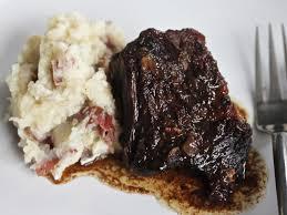 balsamic brown sugar short ribs with garlic mashed potatoes recipe