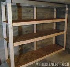 Building Wood Shelves For Storage by Cheap Garage Shelves Ideas How To Make A Basement Storage Shelf