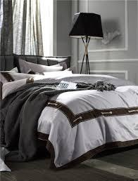 online shop grey silver modern fashion luxury bedding sets soft