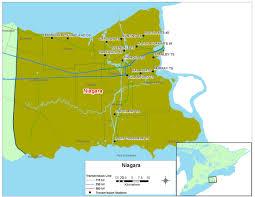 Hamilton Canada Map Map Niagara Jpg