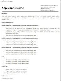 Simple Resume Examples by 10 Printable Basic Pdf Templates Basic Resume Templates