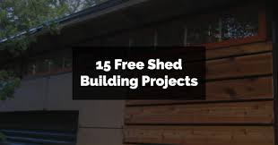 15 free shed building projects paper donut