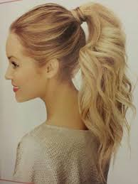 blonde short synthetic ponytail clip in pony tail hair extensions
