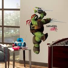 teenage mutant ninja turtles raphael giant wall decal wallwall teenage mutant ninja turtles raphael giant wall decal