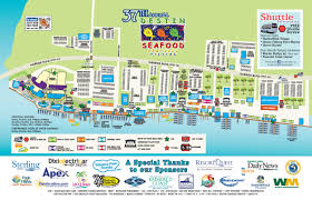 Large Map Of Florida by Destin Seafood Festival Destin Harbor Parking And Maps