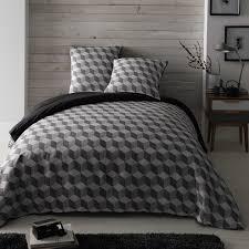 maison du monde coussin de sol parure de lit 240 x 260 cm en coton blanche grise cubic maisons