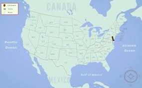United States Map Delaware by Delaware De State Information