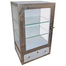 Glass Shelves Kitchen Cabinets Barber Shop Cabinet With 3 Glass Sides Two Glass Shelves And