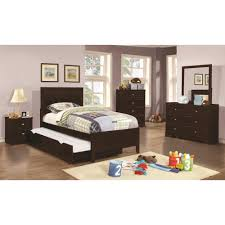 Full Size Trundle Bed Frame Coaster Ashton 4pc Full Size Trundle Bedroom Set In Cappuccino