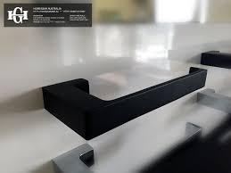 ettore square matte black toilet paper roll holder homegear