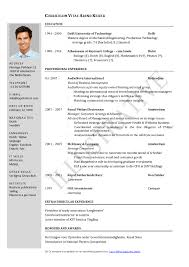 Sample Resume Format For Bcom Freshers by Download Resume Format In Ms Word Resume Template Microsoft Word
