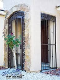 Front Entry Way by Wrought Iron Entry Gate With Porch Enclosure Matching Panels