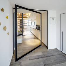 Large Interior Doors by Interior Door Two Way Pivoting With Central Axis Aluminum