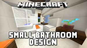 Bathrooms Design Minecraft Tutorial How To Build A Modern House Ep 11 Small
