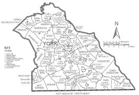 New York County Map by York County Map