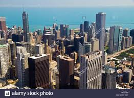 aerial view of chicago il as seen from the willis tower