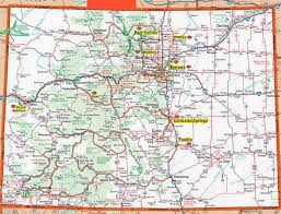 Map Of The Usa by Detailed Roads And Highways Map Of Colorado State Colorado State