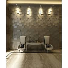wall feature elegant brown grayish interior decor with 3d cube