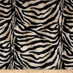 Velboa Faux Fur Zebra Black/Brown - Discount Designer Fabric - Fabric.