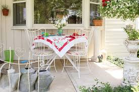 Shabby Chic Planters by Columbus Bistro Tables And Porch Shabby Chic Style With Bay Window