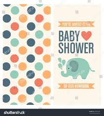 Baby Shower Invitation Cards Templates Baby Shower Invitation Card Template Stock Vector 189591287