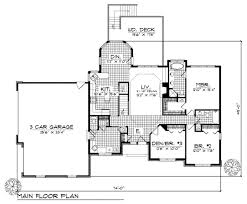 House Plans With 3 Car Garage by Traditional Style House Plan 3 Beds 2 50 Baths 1700 Sq Ft Plan