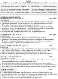 Law Resume Samples by Personal Injury Legal Assistant Resume Sample