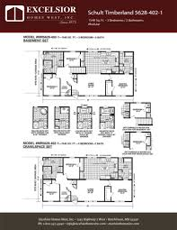 1 Bedroom Modular Homes Floor Plans by Schult Timberland 5628 402 1 Excelsior Homes West Inc