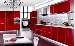 red and black kitchen design with kitchen storage and plate fascinating red kitchen design with cabinets and bright white backsplash