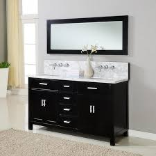 White Bathroom Vanity With Granite Top by Bathroom Rectangle Black Wooden Small Double Sink Vanity With