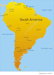 Map Of The South America by Illustration Of South America Continent