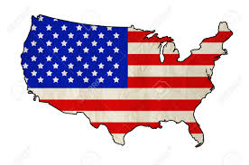 States Of United States Map by Flag Of United States Of America In Usa Map With Old Paper Texture