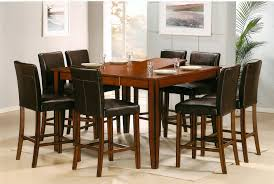 counter height square pub table classic wood dining furniture